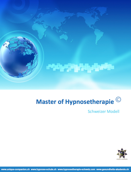 Master of Hypnosetherapie Ausbildung Weiterbildung Praxis für Hypnosetherapeuten und Hypnotherapeuten